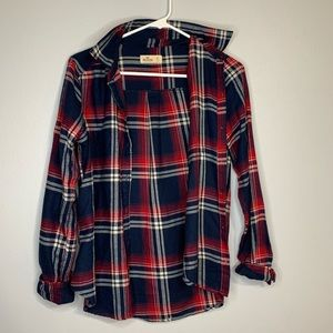 Hollister Red & Blue Flannel
